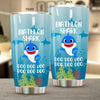 BigProStore Funny Biathlon Shark Doo Doo Doo Tumbler Cute Shark Baby Womens Custom Father's Day Mother's Day Gift Idea BPS807 White / 20oz Steel Tumbler