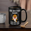 BigProStore Funny Big Brother Shark Doo Doo Doo Coffee Mug Cute Shark Baby Womens Custom Father's Day Mother's Day Gift Idea BPS299 Black / 15oz Coffee Mug