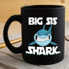 BigProStore Funny Big Sis Shark Coffee Mug Womens Custom Father's Day Mother's Day Gift Idea BPS901 Black / 11oz Coffee Mug