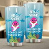 BigProStore Funny Bitch Shark Doo Doo Doo Tumbler Cute Shark Baby Womens Custom Father's Day Mother's Day Gift Idea BPS240 White / 20oz Steel Tumbler