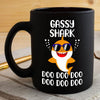 BigProStore Funny Gassy Shark Doo Doo Doo Coffee Mug Cute Shark Baby Wearing Sunglasses Womens Custom Father's Day Mother's Day Gift Idea BPS629 Black / 11oz Coffee Mug