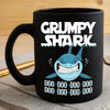 BigProStore Funny Grampy Shark Doo Doo Doo Coffee Mug Womens Custom Father's Day Mother's Day Gift Idea BPS789 Black / 11oz Coffee Mug