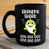 BigProStore Funny Grandpa Shark Doo Doo Doo Coffee Mug Cute Shark Baby Mens Custom Father's Day Mother's Day Gift Idea BPS255 Black / 11oz Coffee Mug