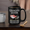 BigProStore Funny Grandpa Shark Doo Doo Doo Coffee Mug Mens Custom Father's Day Mother's Day Gift Idea BPS450 Black / 15oz Coffee Mug