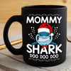 BigProStore Funny Mommy Shark Doo Doo Doo Coffee Mug Shark Wearing Santa Hat Womens Custom Father's Day Mother's Day Christmas Gift Idea BPS234 Black / 11oz Coffee Mug
