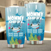 BigProStore Funny Mommy Shark Doo Doo Doo Tumbler Shark And Rose Womens Custom Father's Day Mother's Day Gift Idea BPS359 White / 20oz Steel Tumbler