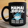 BigProStore Funny Nainai Shark Doo Doo Doo Coffee Mug Womens Custom Father's Day Mother's Day Gift Idea BPS562 Black / 11oz Coffee Mug