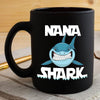 BigProStore Funny Nana Shark Coffee Mug Womens Custom Father's Day Mother's Day Gift Idea BPS976 Black / 11oz Coffee Mug