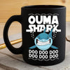 BigProStore Funny Ouma Shark Doo Doo Doo Coffee Mug Womens Custom Father's Day Mother's Day Gift Idea BPS516 Black / 11oz Coffee Mug
