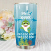 BigProStore Funny Papa Shark Doo Doo Doo Tumbler Cute Shark Baby Mens Custom Father's Day Mother's Day Gift Idea BPS188 White / 20oz Steel Tumbler