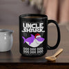 BigProStore Funny Uncle Shark Doo Doo Doo Coffee Mug Shark Wearing Santa Hat Mens Custom Father's Day Mother's Day Christmas Gift Idea BPS442 Black / 15oz Coffee Mug