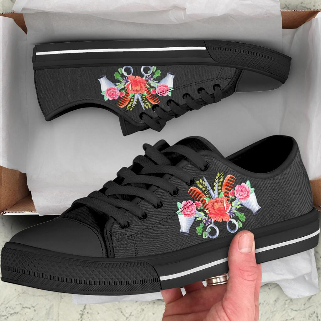 Hairstylist Flower Low Top Shoes