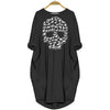 BigProStore Horse Skull Women Pocket Dress Black / S Women Dress