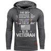 BigProStore I Am The Storm US Veteran Men Hoodie Dark Gray / S Hoodie