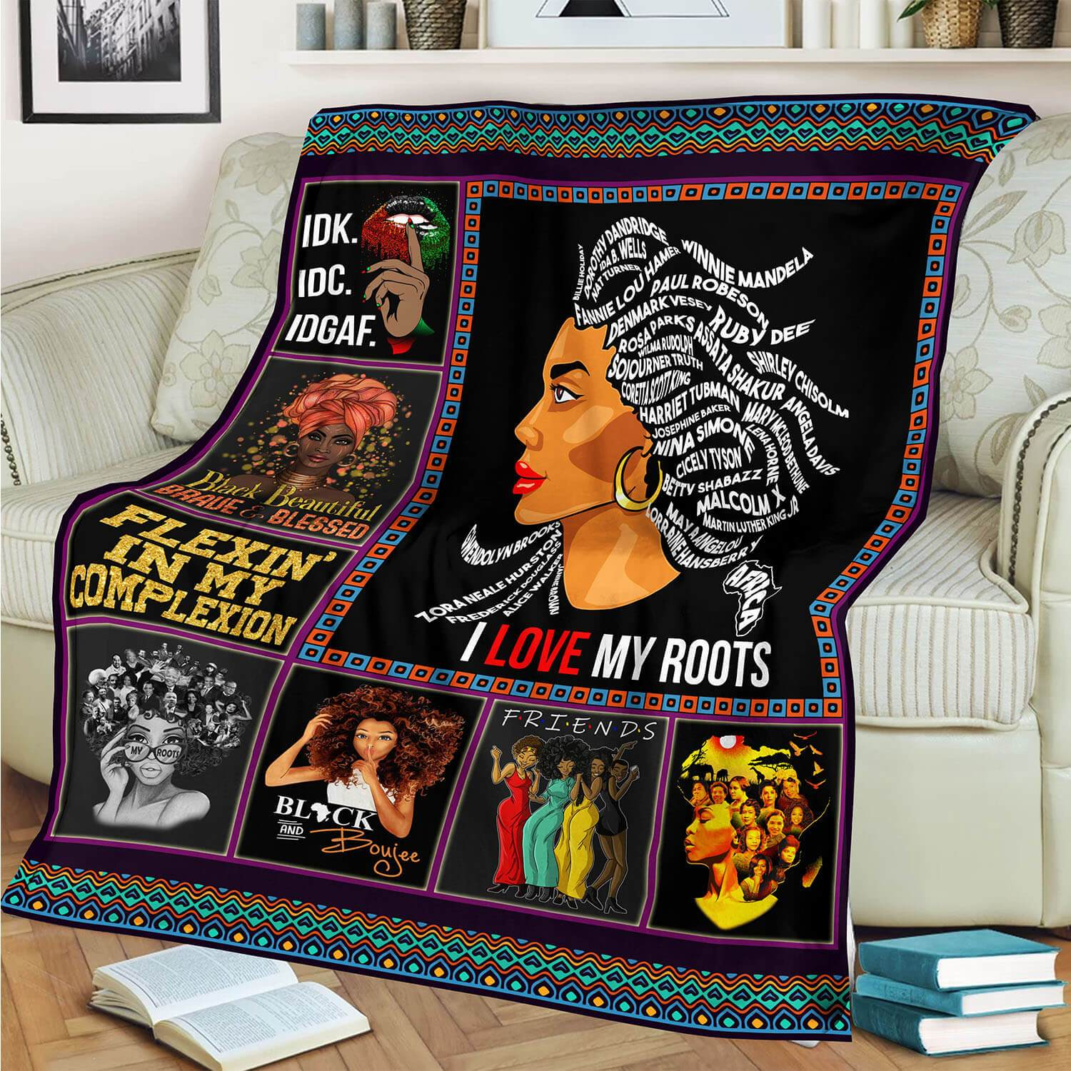 I Love My Roots Blanket