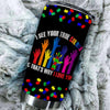 BigProStore I See Your True Colors Autism Awareness Hands for Kids Tumbler Idea BPS132 Black / 20oz Steel Tumbler