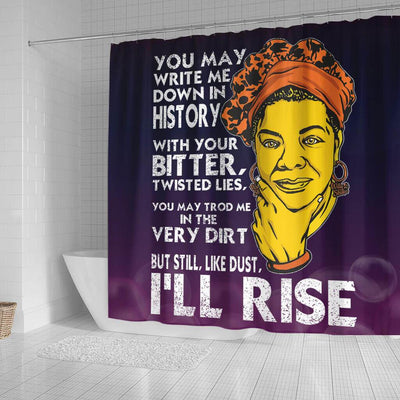 BigProStore Inspired But Still Like Dust I'll Rise Afro American Shower Curtains Afrocentric Bathroom Accessories BPS106 Small (165x180cm | 65x72in) Shower Curtain
