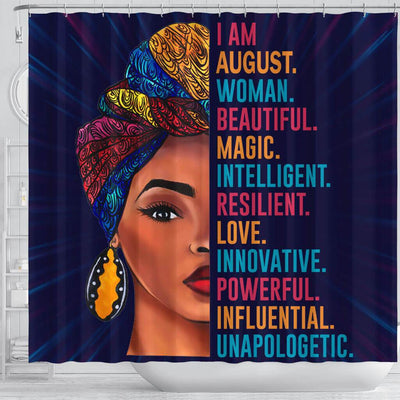 BigProStore Inspired I Am August Woman Beautiful Magic African Style Shower Curtains Afro Bathroom Decor BPS091 Shower Curtain