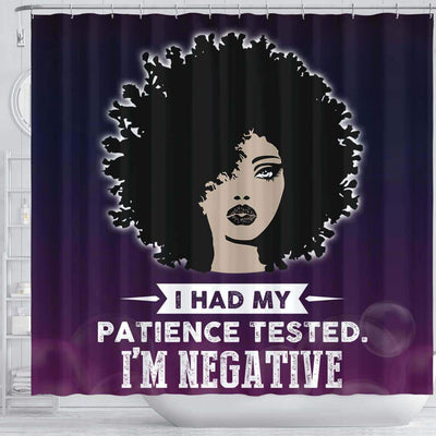 BigProStore Inspired I Had My Patience Tested I'm Negative African American Shower Curtain Afro Bathroom Accessories BPS136 Shower Curtain