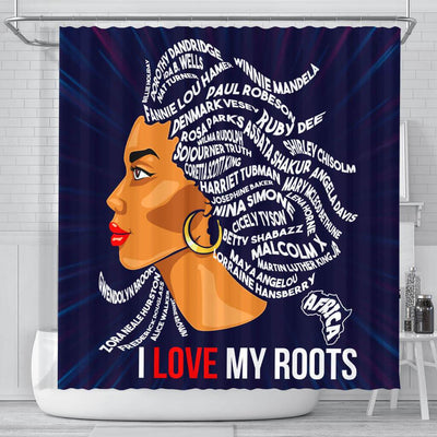 BigProStore Inspired I Love My Roots African American Shower Curtain Afro Bathroom Accessories BPS139 Small (165x180cm | 65x72in) Shower Curtain