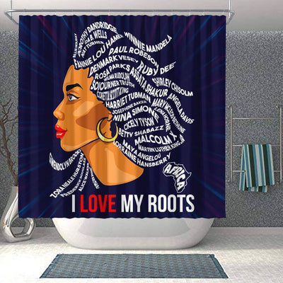 BigProStore Inspired I Love My Roots African American Shower Curtain Afro Bathroom Accessories BPS139 Shower Curtain
