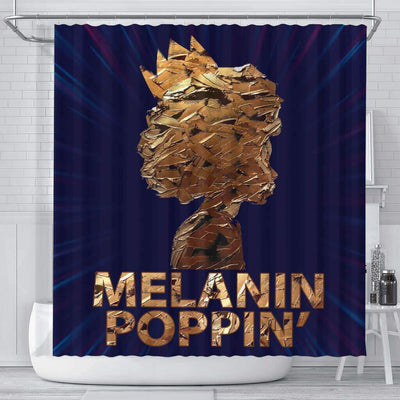 BigProStore Inspired Melanin Poppin' Shades Black African American Shower Curtains Afro Bathroom Decor BPS164 Small (165x180cm | 65x72in) Shower Curtain