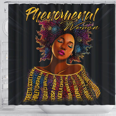 BigProStore Inspired Phenomenal Woman Afro Girl Art Shower Curtains African American African Bathroom Accessories BPS189 Shower Curtain