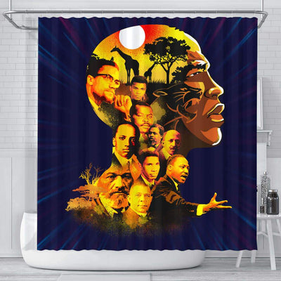 BigProStore Inspired Pro Black My Roots Pride African American Bathroom Shower Curtains African Style Designs BPS195 Small (165x180cm | 65x72in) Shower Curtain