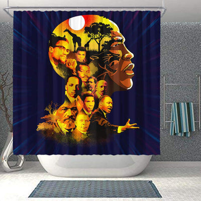 BigProStore Inspired Pro Black My Roots Pride African American Bathroom Shower Curtains African Style Designs BPS195 Shower Curtain