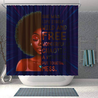 BigProStore Inspired She Was Life Itself Wild And Free Wonderfully Chaotic African Style Shower Curtains African Bathroom Accessories BPS206 Shower Curtain