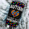 BigProStore It's okay to be different Autism Awareness Tumbler Cups BPS455 Black / 20oz Steel Tumbler