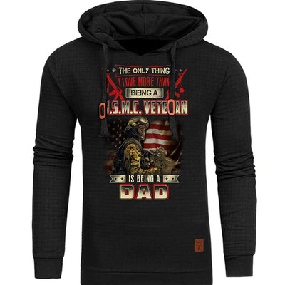 BigProStore Marine Corps Hoodie The Only Thing I Love More Than Being A USMC Veteran Is Being A Dad Hoodie BPS875 Black / S Hoodie