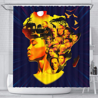 BigProStore Melanin Beatiful Afro Girl Famous Pro Black Art Afrocentric Shower Curtains Afrocentric Style Designs BPS055 Small (165x180cm | 65x72in) Shower Curtain