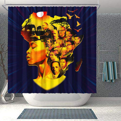 BigProStore Melanin Beatiful Afro Girl Famous Pro Black Art Afrocentric Shower Curtains Afrocentric Style Designs BPS055 Shower Curtain
