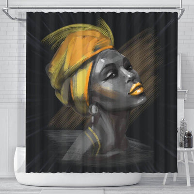 BigProStore Melanin Beautiful Melanin Woman Black African American Shower Curtains African Bathroom Accessories BPS069 Small (165x180cm | 65x72in) Shower Curtain