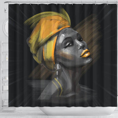BigProStore Melanin Beautiful Melanin Woman Black African American Shower Curtains African Bathroom Accessories BPS069 Shower Curtain