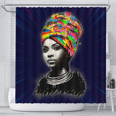 BigProStore Melanin Black Woman Art Beautiful Girl African American Bathroom Shower Curtains Afrocentric Bathroom Accessories BPS098 Small (165x180cm | 65x72in) Shower Curtain