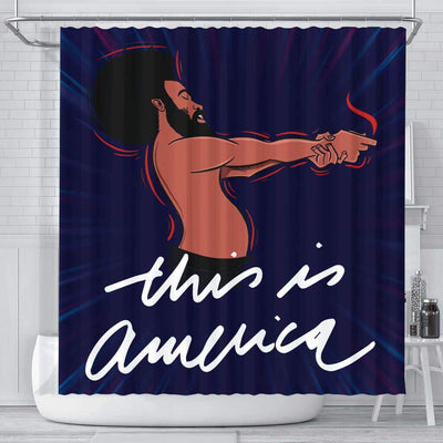 BigProStore Melanin Childish Gambino This Is America African Style Shower Curtains Afrocentric Style Designs BPS107 Small (165x180cm | 65x72in) Shower Curtain