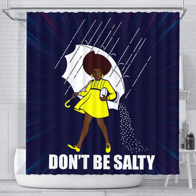 BigProStore Melanin Don't Be Salty Afro Girl African American Shower Curtain African Bathroom Decor BPS110 Small (165x180cm | 65x72in) Shower Curtain
