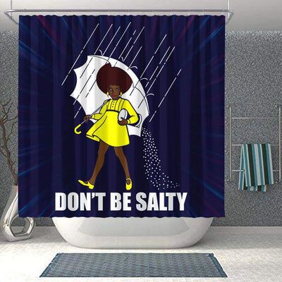 BigProStore Melanin Don't Be Salty Afro Girl African American Shower Curtain African Bathroom Decor BPS110 Shower Curtain