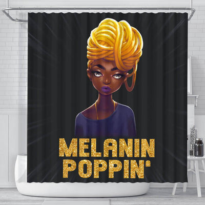 BigProStore Melanin Melanin Poppin' Black Woman African American Shower Curtain Afro Bathroom Decor BPS163 Small (165x180cm | 65x72in) Shower Curtain
