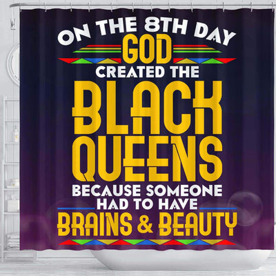 BigProStore Melanin On The 8Th Day God Created The Black Queen Afrocentric Shower Curtains Afrocentric Style Designs BPS187 Shower Curtain