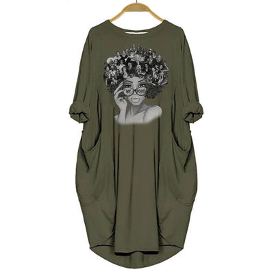 BigProStore My Roots Shirt Melanin Women Dress for Black Girls Green / S (4-6 US)(8 UK) Women Dress