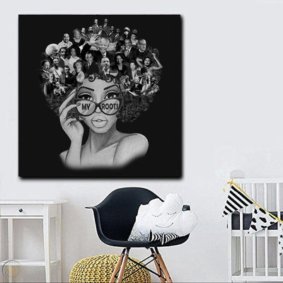 BigProStore African American Canvas Art My Roots Canvas Design Famous African Leaders People Black History Month Canvas Afrocentric Inspired Home Decor BPS639 Portrait Canvas