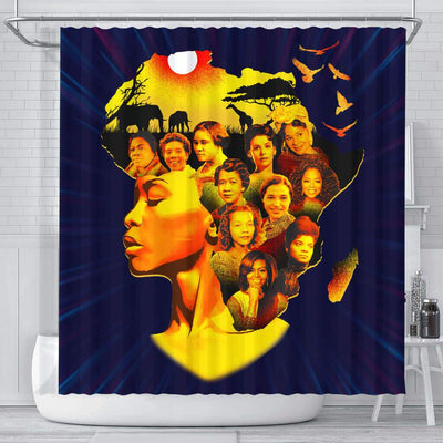 BigProStore Nice Famous Pro Black Women Afro Girls African American Themed Shower Curtains African Bathroom Decor BPS115 Small (165x180cm | 65x72in) Shower Curtain