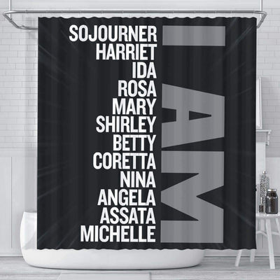 BigProStore Nice I Am Sojourner Harriet Ida Rosa Mary Shirley Afrocentric Shower Curtains Afrocentric Bathroom Decor BPS134 Small (165x180cm | 65x72in) Shower Curtain