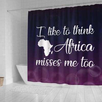 BigProStore Nice I Like To Think Africa Misses Me Too African American Bathroom Shower Curtains Afrocentric Bathroom Decor BPS138 Small (165x180cm | 65x72in) Shower Curtain