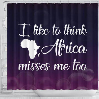 BigProStore Nice I Like To Think Africa Misses Me Too African American Bathroom Shower Curtains Afrocentric Bathroom Decor BPS138 Shower Curtain