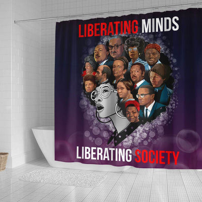 BigProStore Nice Liberating Minds Liberating Society Afrocentric Shower Curtains Afrocentric Bathroom Decor BPS150 Small (165x180cm | 65x72in) Shower Curtain