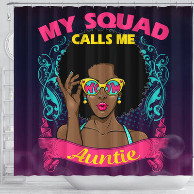 BigProStore Nice My Squad Calls Me Auntie Afro Girl African Style Shower Curtains Afro Bathroom Accessories BPS176 Shower Curtain